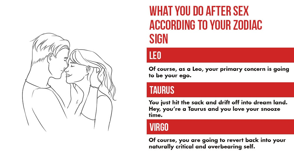 What You Do After Lovemaking According To Your Zodiac Sign